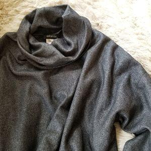 Eskandar dark gray poncho style top size 1